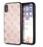 Guess backcover hoesje Double Layer Glitter Apple iPhone X-Xs Roze - Peony - TPU