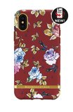 Richmond & Finch Red Floral - Gold Details iPhone X (rood)_