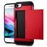 Spigen Slim Armor CS (rood) voor iPhone 7 / 8_