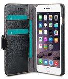 Melkco Premium Leather Wallet Case Black voor iPhone 6 Plus / 6s Plus_