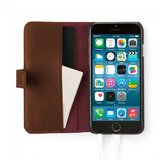 Pipetto Classic Wallet Folio Case Brown voor iPhone 6 / 6s_