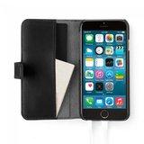 Pipetto Classic Wallet Folio Case Black voor iPhone 6 / 6s_