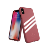 Adidas Moulded Case PU Suéde Roze voor iPhone Xr_