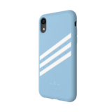 Adidas Moulded Case PU Suéde Blauw voor iPhone Xr_