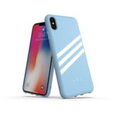 Adidas Moulded Case PU Suéde Blauw voor iPhone Xs Max_