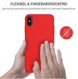 JT Berlin BackCase Pankow Soft voor iPhone XS Max (rood)_