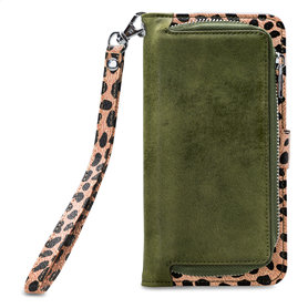 Mobilize 2in1 Gelly Wallet Zipper Case Apple iPhone 11 Olive/Leopard