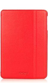 Knomo Folio Case Leather Scarlet Red voor iPad mini 1 t/m 3 Retina
