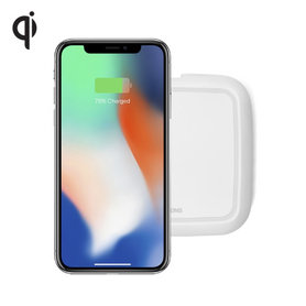 Zens Qi single draadloze oplader 10W (wit)