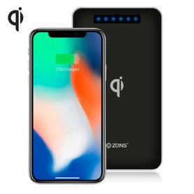 Zens Qi draadloze oplader / power bank 4500mAh (zwart)