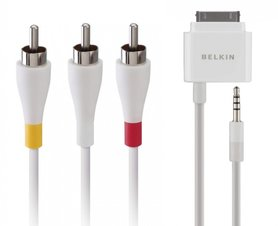 Belkin Video-/Audio Kabel met Laadkabel 30-Pins