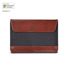 Maroo Woodland Brown Microsoft Surface 3 Flip case Bruin, Grijs