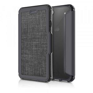 Itskins Spectra Book Case Textiel Zwart voor iPhone 7 / 8