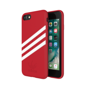 Adidas OR Moulded case Suede voor iPhone 6 / 6s / 7 /8 (rood)