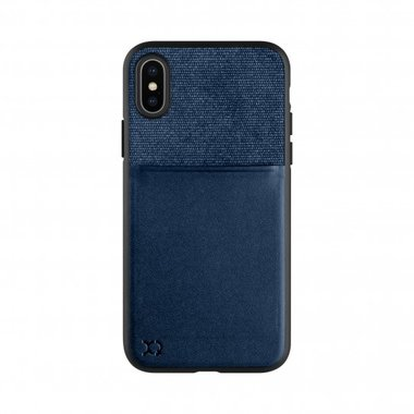 XQISIT Card Case for iPhone X/Xs dark blue