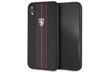 Ferrari Zwart Urban Off Track backcover voor iPhone XR