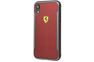 Ferrari Scuderia Rood Backcover hoesje voor Apple iPhone XR - On Track PU Rubber