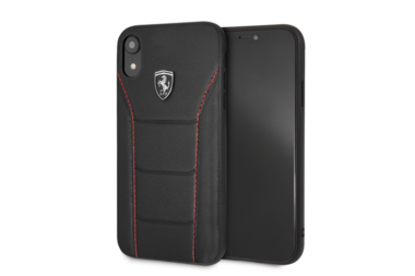 Ferrari silicone backcover voor iPhone XR - Black