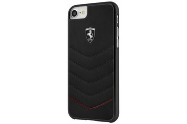 Ferrari Zwart Back Cover voor iPhone 7 / 8 PLUS - Heritage Real Carbon