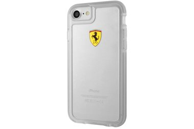 Ferrari Backcover voor Apple iPhone 7-8 - Transparant