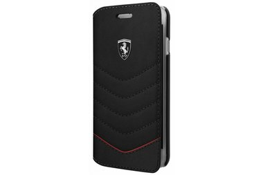 Ferrari Book case voor iPhone 7-8 Plus - Zwart