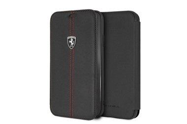 Ferrari Book case voor iPhone XR - Zwart