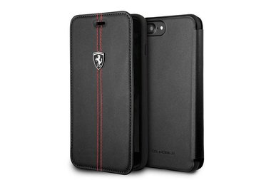 Ferrari Bookcase voor iPhone 7-8 Plus - Zwart