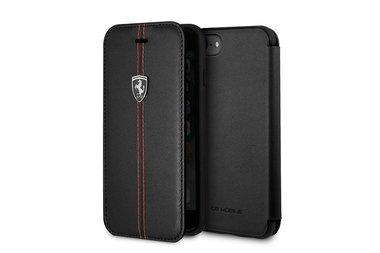 Ferrari Bookcase voor iPhone 7-8 Zwart