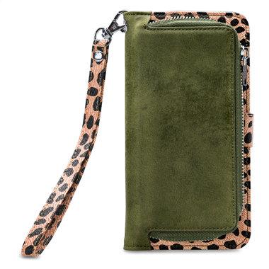 Mobilize 2in1 Gelly Wallet Zipper Case Apple iPhone 6/6S/7/8 Plus Olive/Leopard