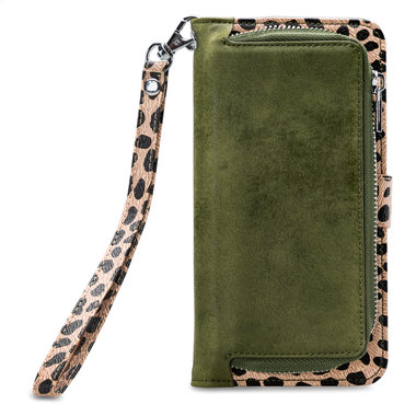 Mobilize 2in1 Gelly Wallet Zipper Case Apple iPhone 11 Pro Max Olive/Leopard