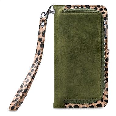 Mobilize 2in1 Gelly Wallet Zipper Case Apple iPhone 11 Pro Olive/Leopard