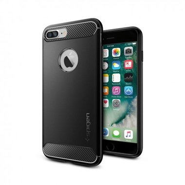 Spigen Case Rugged Armor (zwart) iPhone 7 plus / 8 plus