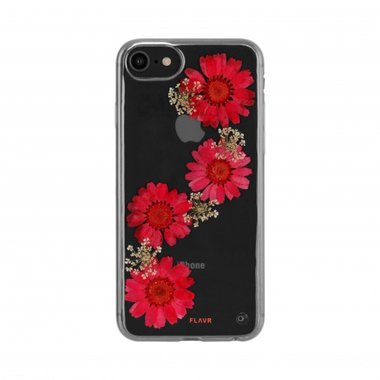 FLAVR iPlate Real Flower Paula (rood) voor iPhone 6 / 6s / 7 / 8
