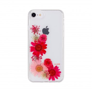 FLAVR iPlate Real Flower Sofia (kleurrijk) voor iPhone 6 / 6s / 7 / 8