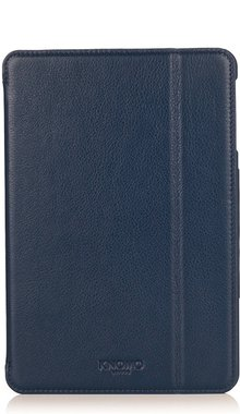 Knomo Folio Case Leather Marine Blue voor iPad mini 1 t/m 3 Retina