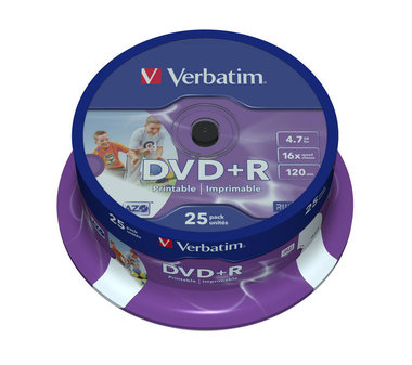 Verbatim DVD+R AZO 4.7GB 16X Spindle (25 Pack)