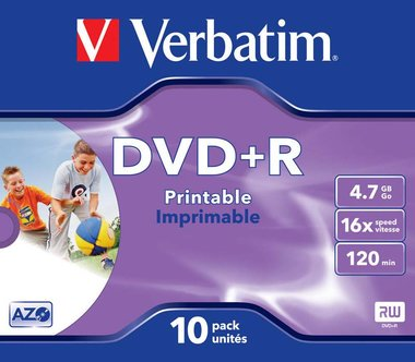 Verbatim DVD+R AZO 4.7GB 16X Jewel Case (10 Pack)