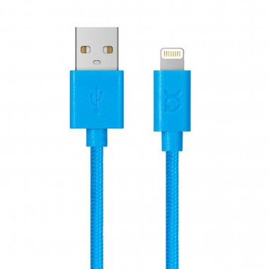 Xqisit Cotton Cable Lightning. 1,8m (Blauw)