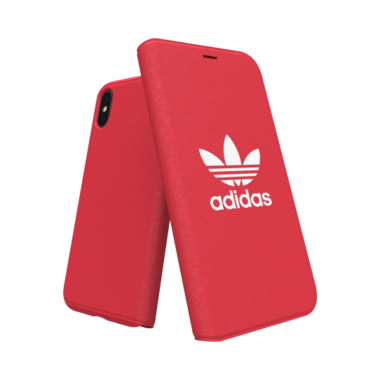 Adidas Booklet Case voor de iPhone X / Xs (rood)
