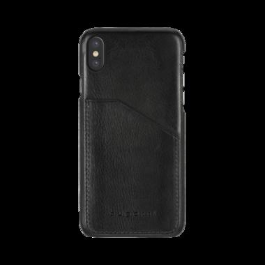 Bugatti Londra Leer Zwart voor iPhone X/Xs