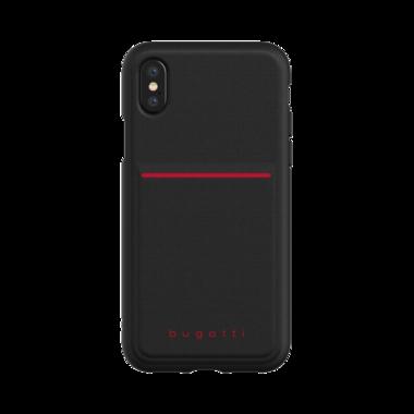 Bugatti Snap Case Flaxcity Zwart voor iPhone X/Xs