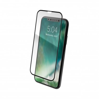 XQISIT Screen Glass Edge to Edge voor de iPhone XR (Zwart)