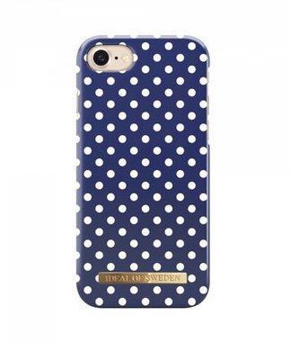 iDeal of Sweden iPhone 8 / 7 Fashion Back Case Blue Polka Dots