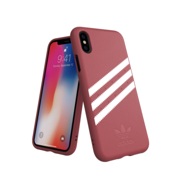 Adidas Moulded Case PU Suéde Roze voor iPhone Xr