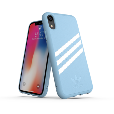 Adidas Moulded Case PU Suéde Blauw voor iPhone Xr