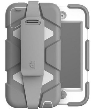 Griffin Survivor (medical) All-Terrain met riem-clip voor Apple iPod Touch (5./6. Gen.), wit/grijs