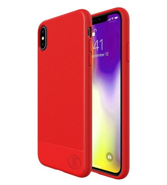 JT Berlin BackCase Pankow Soft voor iPhone XS Max (rood)