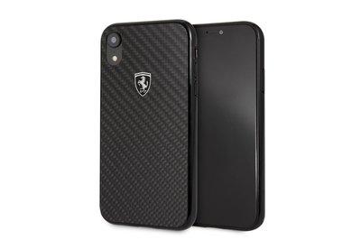 Apple Zwart Ferrari Back Cover voor iPhone XR - Heritage Real Carbon