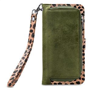 Mobilize 2in1 Gelly Wallet Zipper Case Apple iPhone X/Xs Olive/Leopard