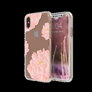 FLAVR iPlate Pink Peonies case voor iPhone X/Xs (kleurrijk)